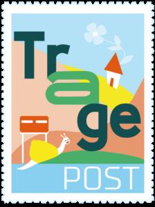 TragePost postzegel met rand afbeelding groot